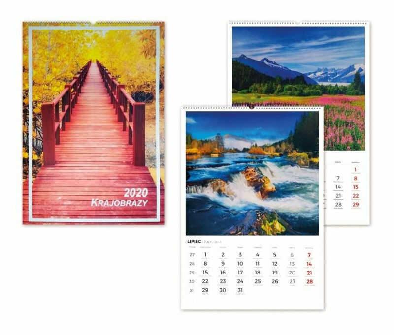 Kalendarz 2020 Krajobrazy wieloplanszowy ZAKŁADKA DO KSIĄŻEK GRATIS DO KAŻDEGO ZAMÓWIENIA