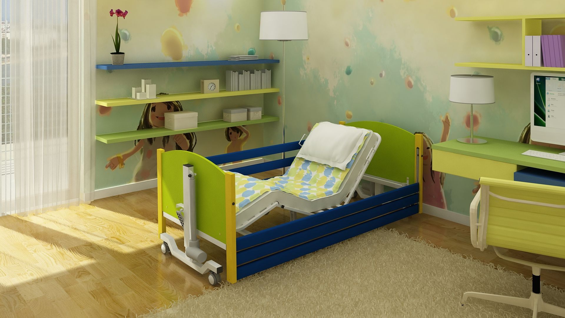 Łóżko rehabilitacyjne TAURUS JUNIOR