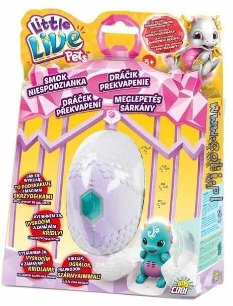 Little Live Pets - Smok niespodzianka w jaju z turkusowym kryształem 28643