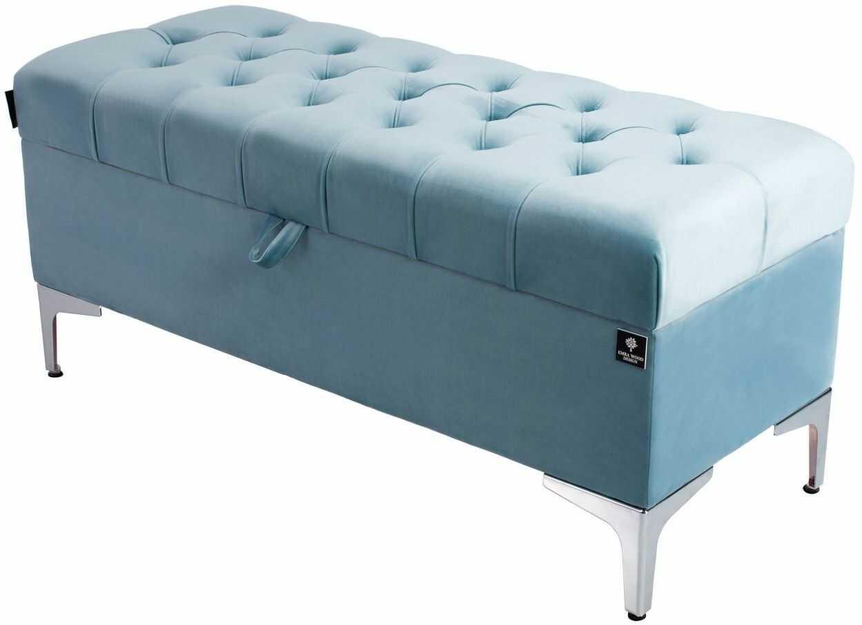 Kufer Pikowany CHESTERFIELD Jasny Błękit / Model Q-1 Rozmiary od 50 cm do 200 cm
