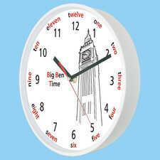 Zegar ścienny z dżwiękiem Big Ben biały