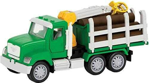 DRIVEN by Battat WH1013Z uchwyt do żurawia i bali z mikrozabawkami  w zestawie światła robocze i dźwięki  samochody i ciężarówki dla dzieci w wieku od 3 lat, nylon/A