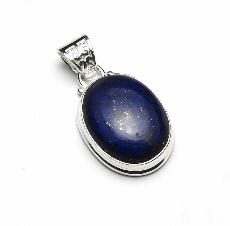 Kuźnia Srebra - Zawieszka srebrna, 32mm, Lapis Lazuli, 7g, model
