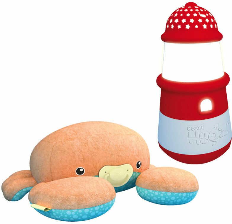 Octopi Pluszowy Krabik + latarnia pozytywka lampka i projektor 3w1 6883