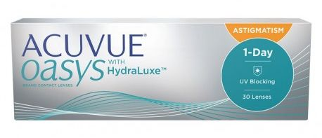 ACUVUE OASYS 1-Day with HydraLuxe for Astigamtism (30 sztuk) TANIE I MARKOWE SOCZEWKI KONTAKTOWE