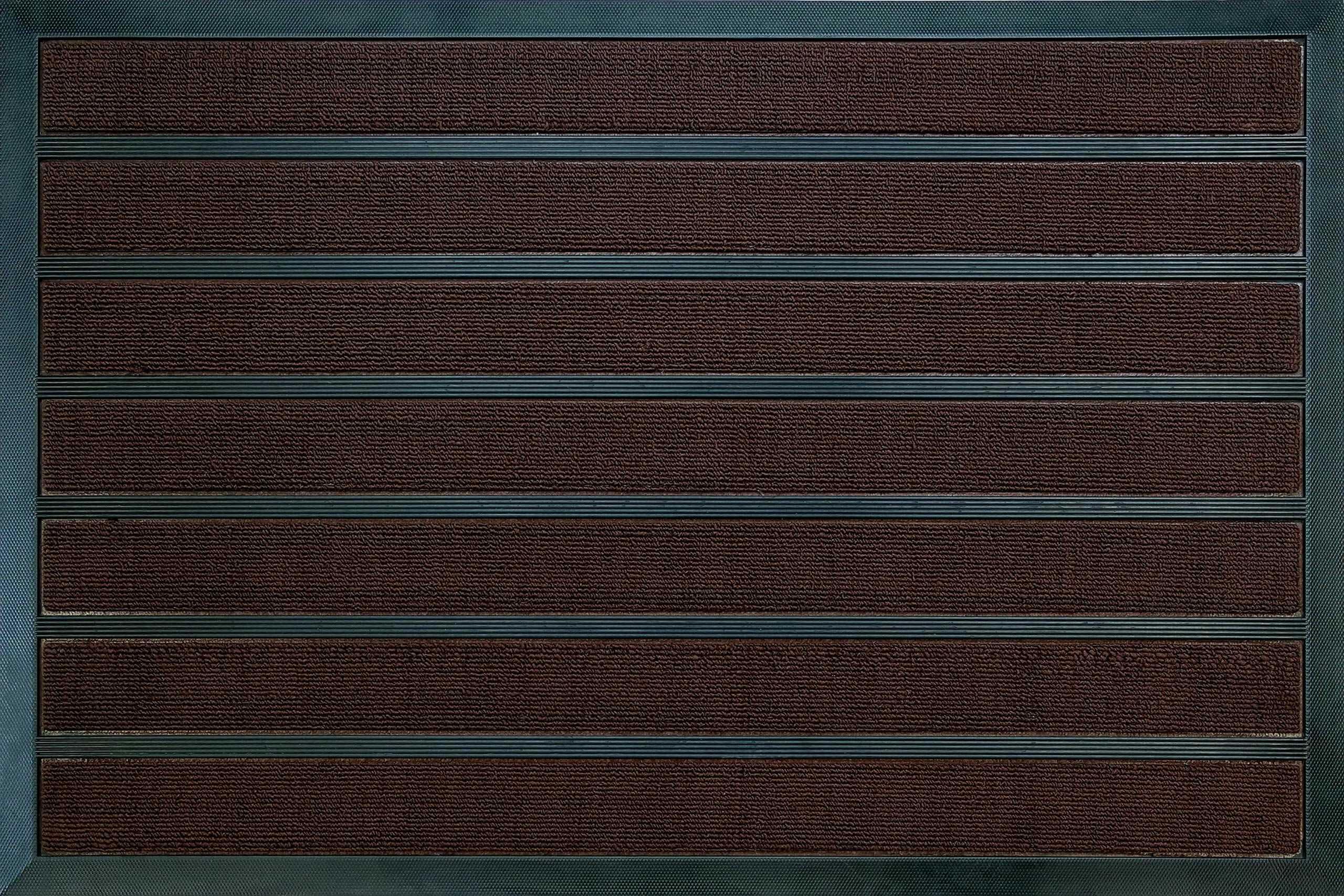 ID mat 609010 combi'' chłonny dywan wycieraczka z włókien polipropylenowych/PVC brązowy 80 x 60 x 1,1 cm