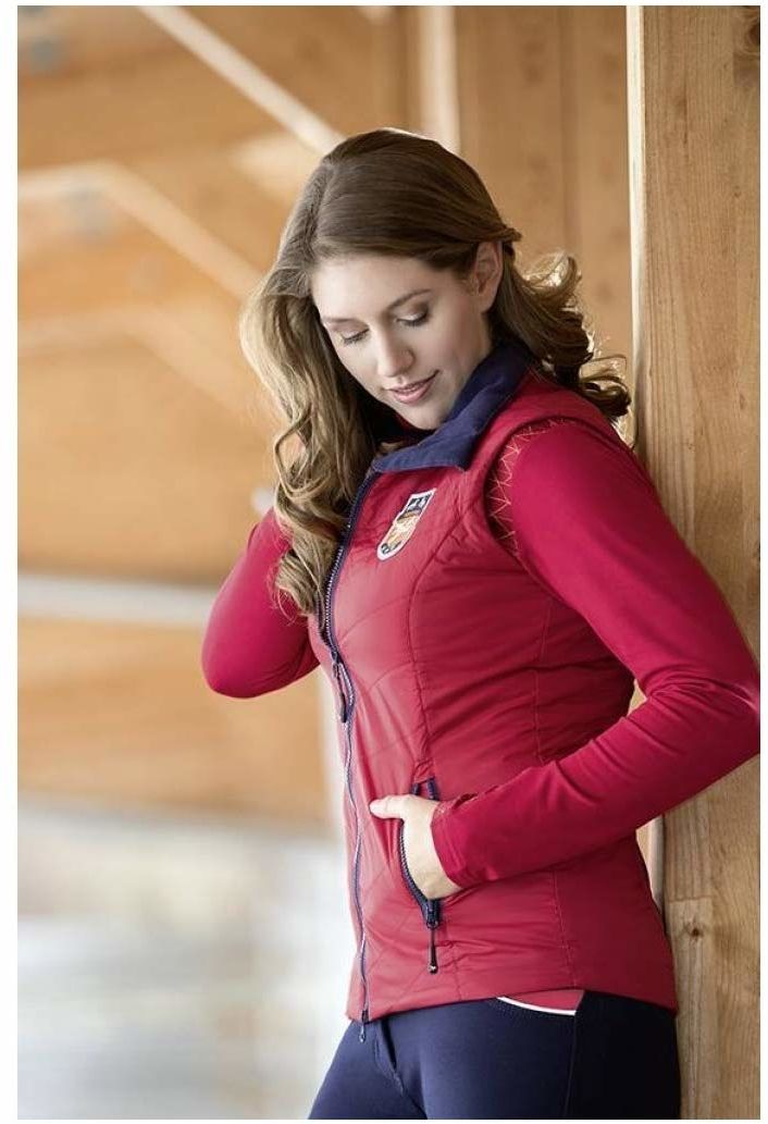 HKM Spodnie pikowane dla dorosłych Hickstead-3200 ciemnoczerwone, 3200