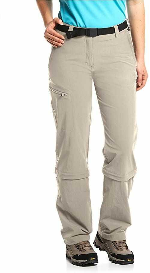 Maier Sports EL. Arolla damskie spodnie z odpinanymi nogawkami Beige - Beige 38