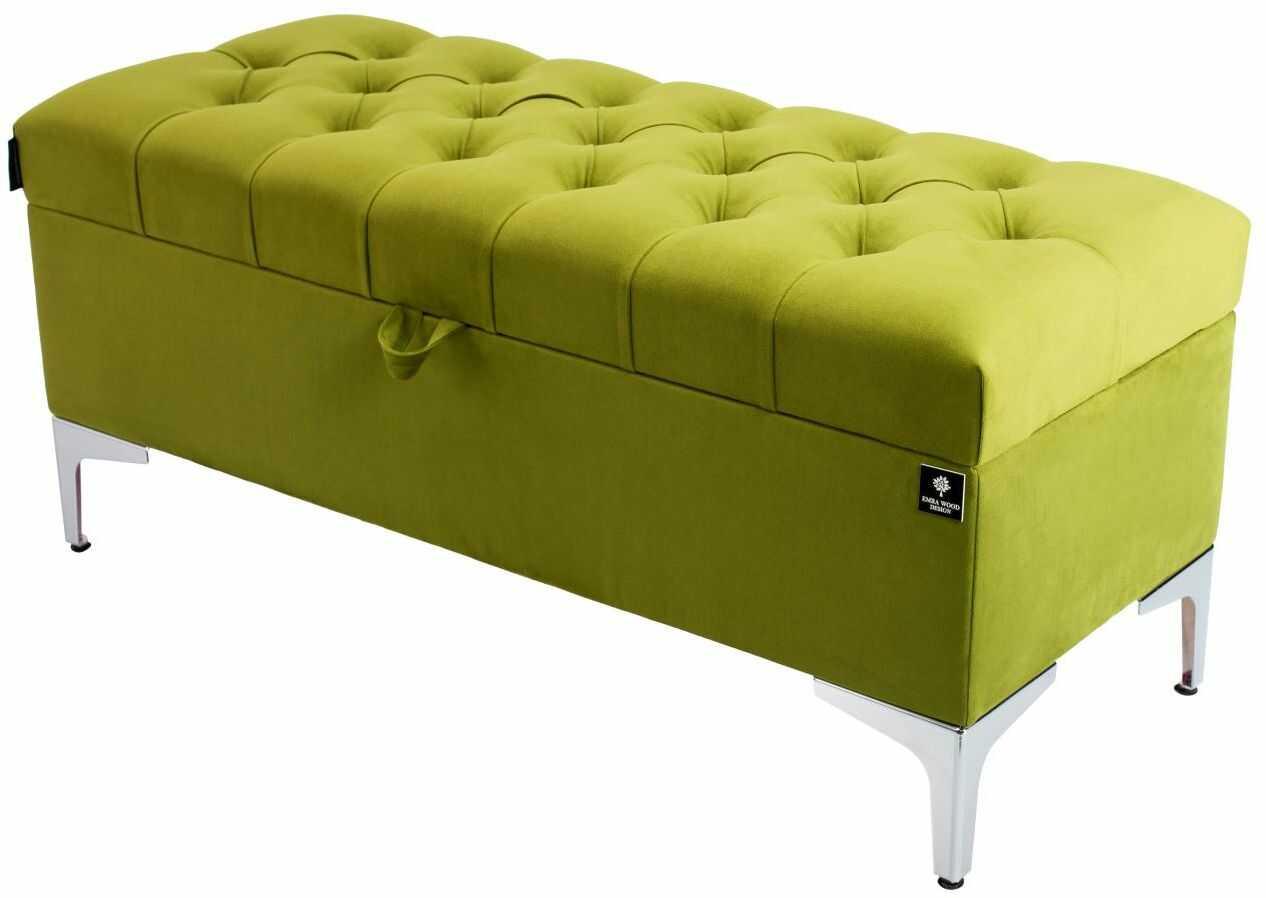Kufer Pikowany CHESTERFIELD Zielony / Model Q-1 Rozmiary od 50 cm do 200 cm