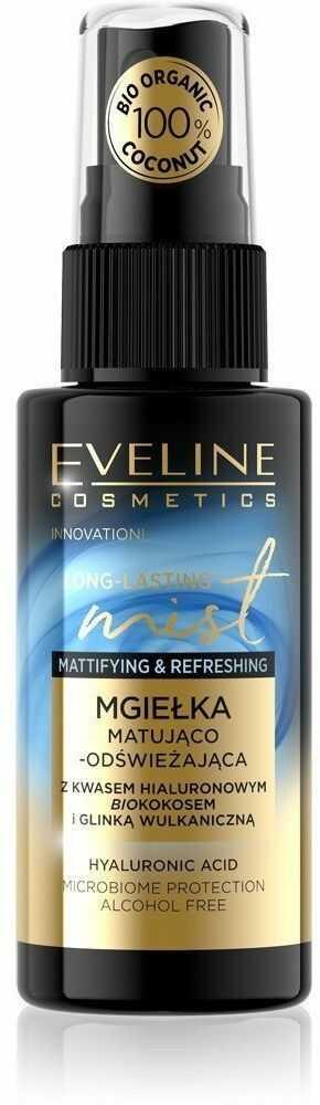 Eveline Eveline Long Lasting Mist Mgiełka matująco-odświeżająca z biokokosem do twarzy 50ml