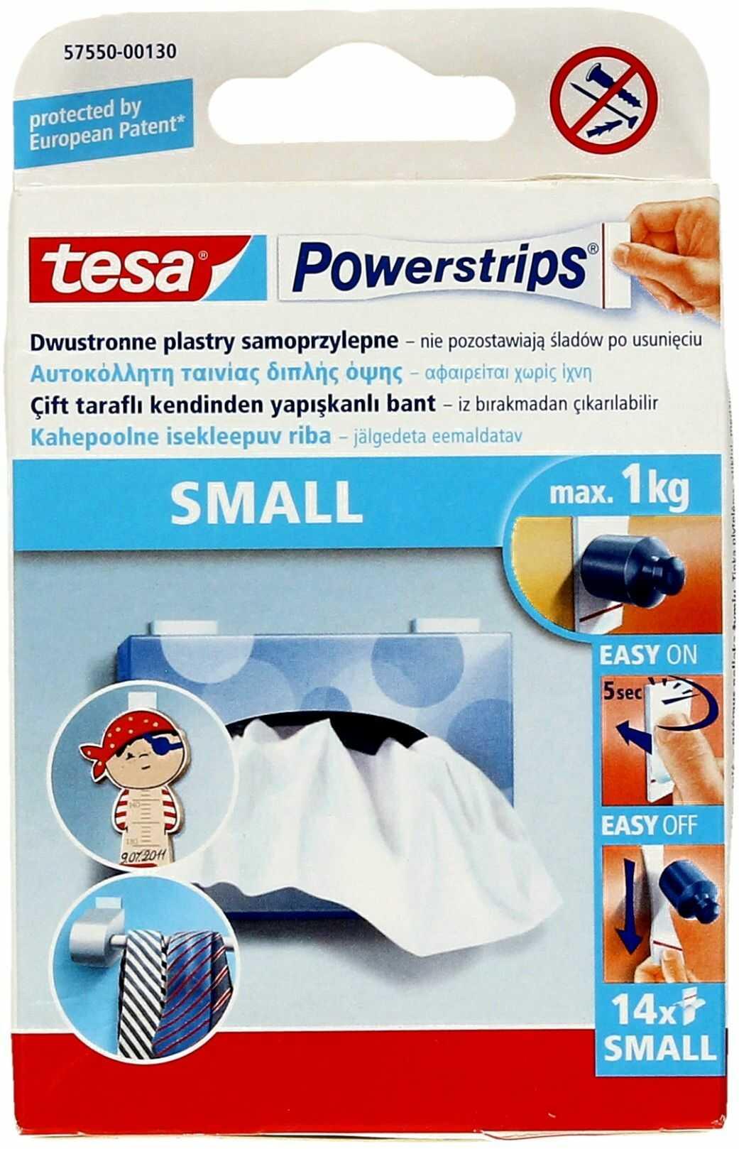 Plastry samoprzylepne dwustronne Powerstrips Tesa (14)