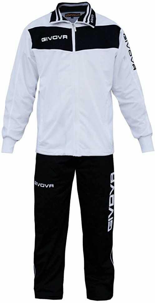 Givova, garnitur wela, biały/czarny, 3XL
