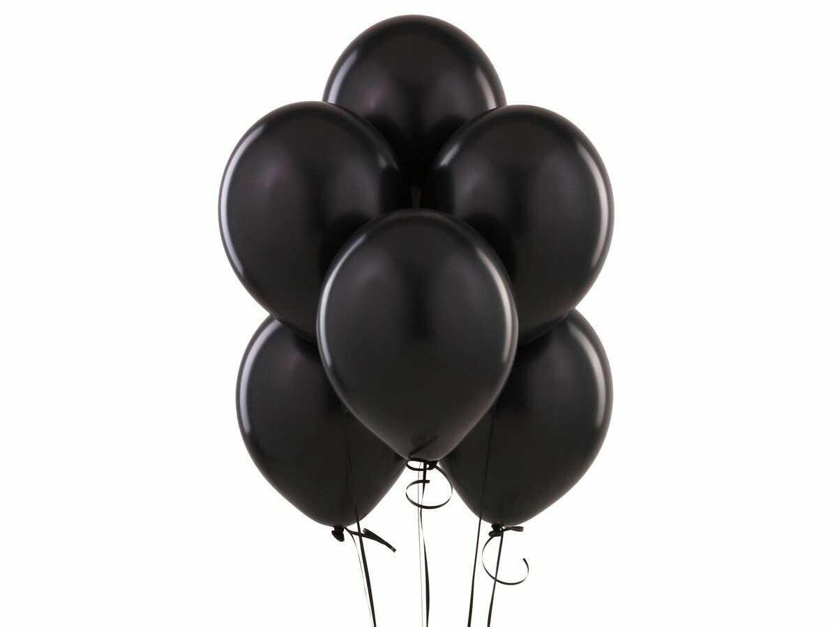Balony lateksowe - średnie - czarne - 25 szt.