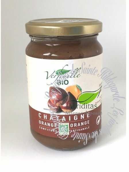 Kasztany jadalne - Konfitura z kasztanów i pomarańczy Bio 370 g*, - 15072