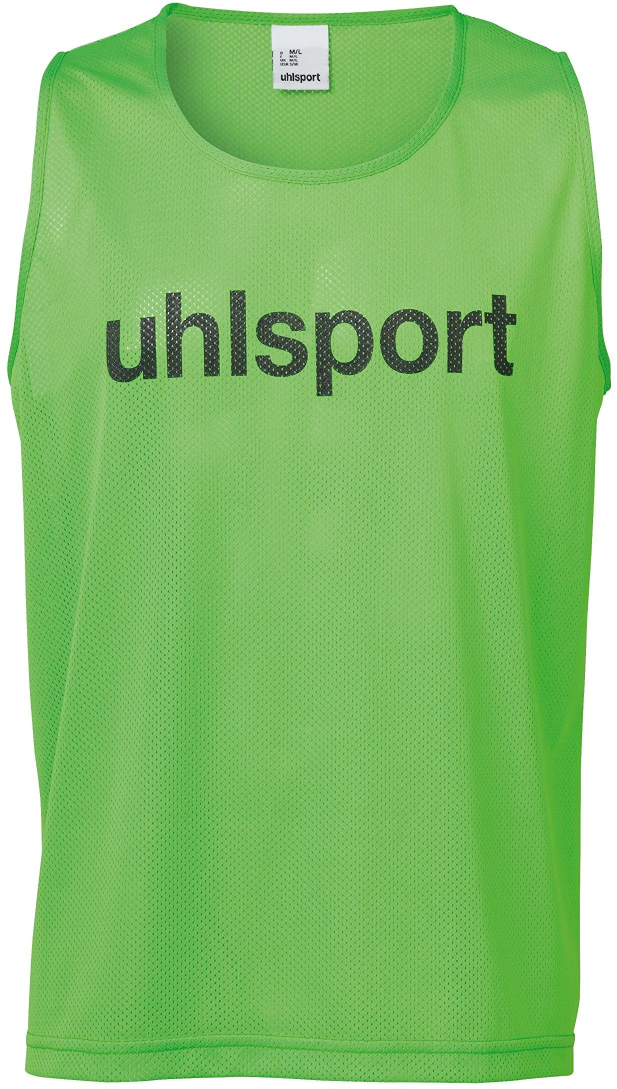 Uhlsport męska koszulka z oznakowaniem, fluo zielony, XS/S