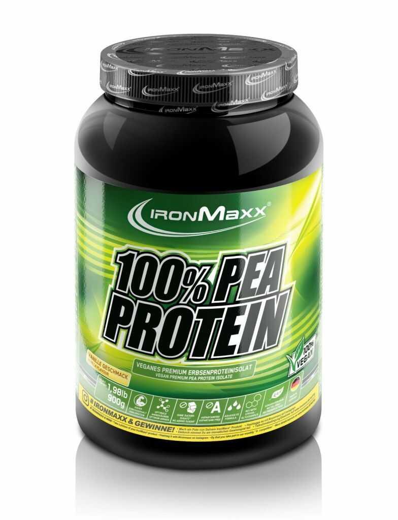 Ironmaxx Pea Protein - Wegańskie białko grochu 900g, Smak: Wanilia