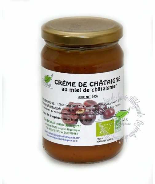Kasztany jadalne - Krem kasztanowy z miodem kasztanowym Bio 360 g*, - 15555