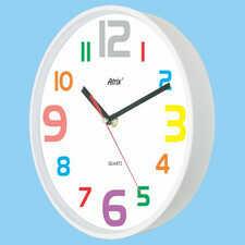 Zegar ścienny biały cyferki #3