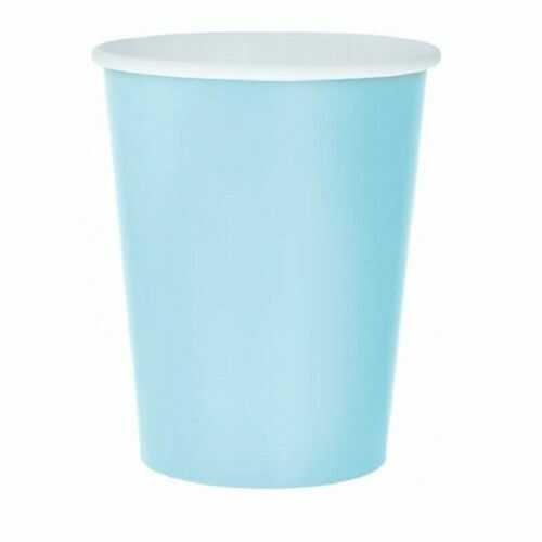 Kubeczki Pastelowe Party, jasnoniebieskie, 14 szt.