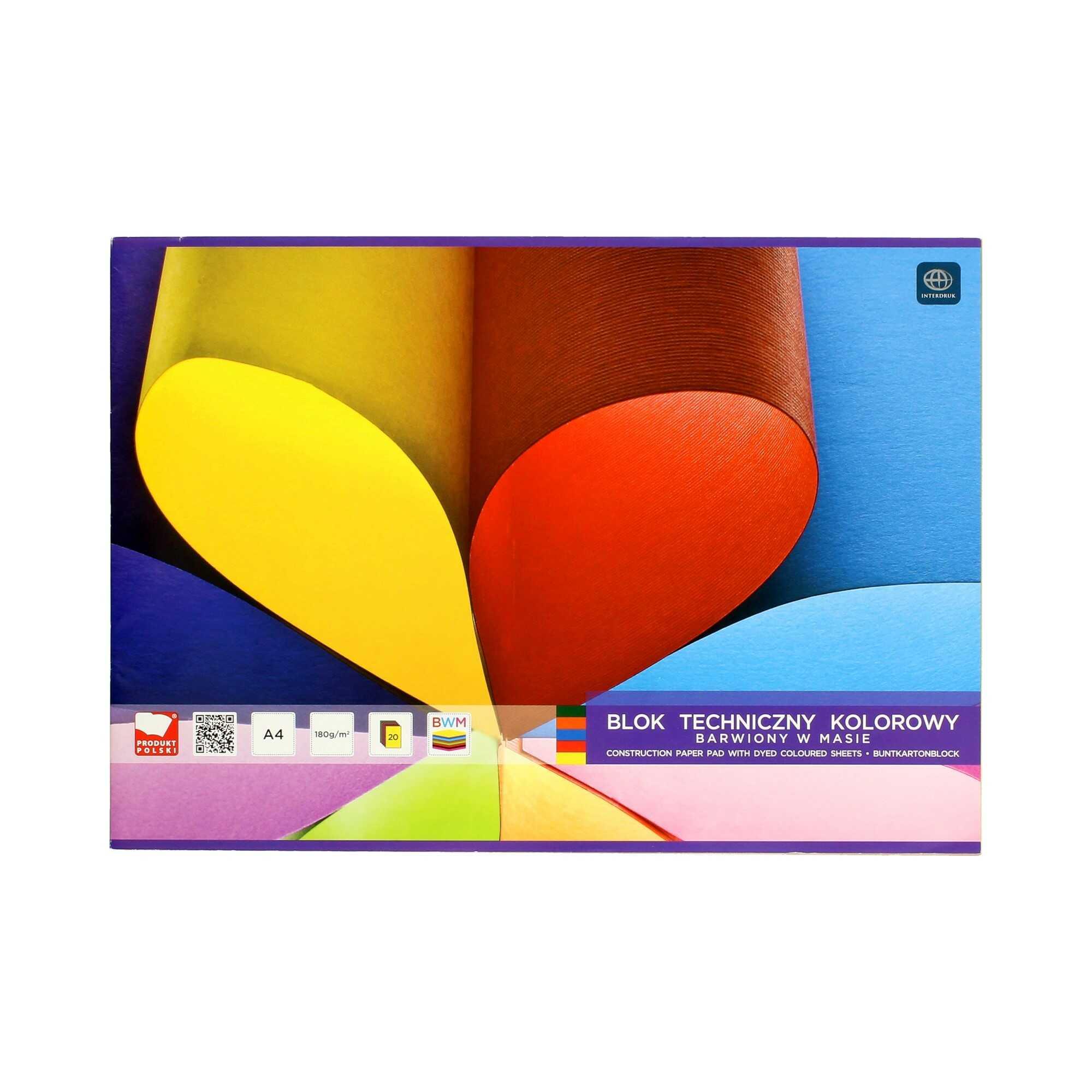 Blok techniczny A4/20 kolor barwiony Interdruk