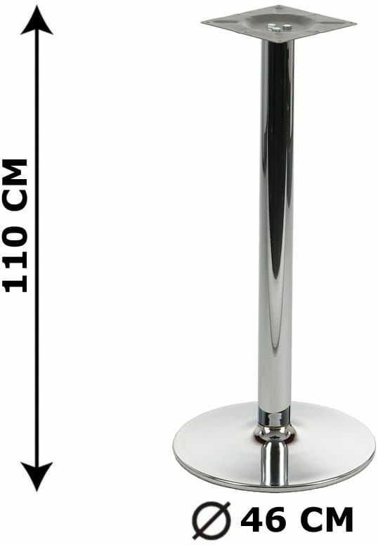 Podstawa stolika NY-B005, wysokość 110 cm, chromowana