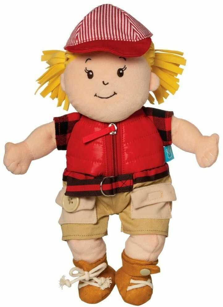 Pluszowa lalka dla dzieci Zosia uczy się ubierać 159670-Manhattan Toy, lalki dla dzieci