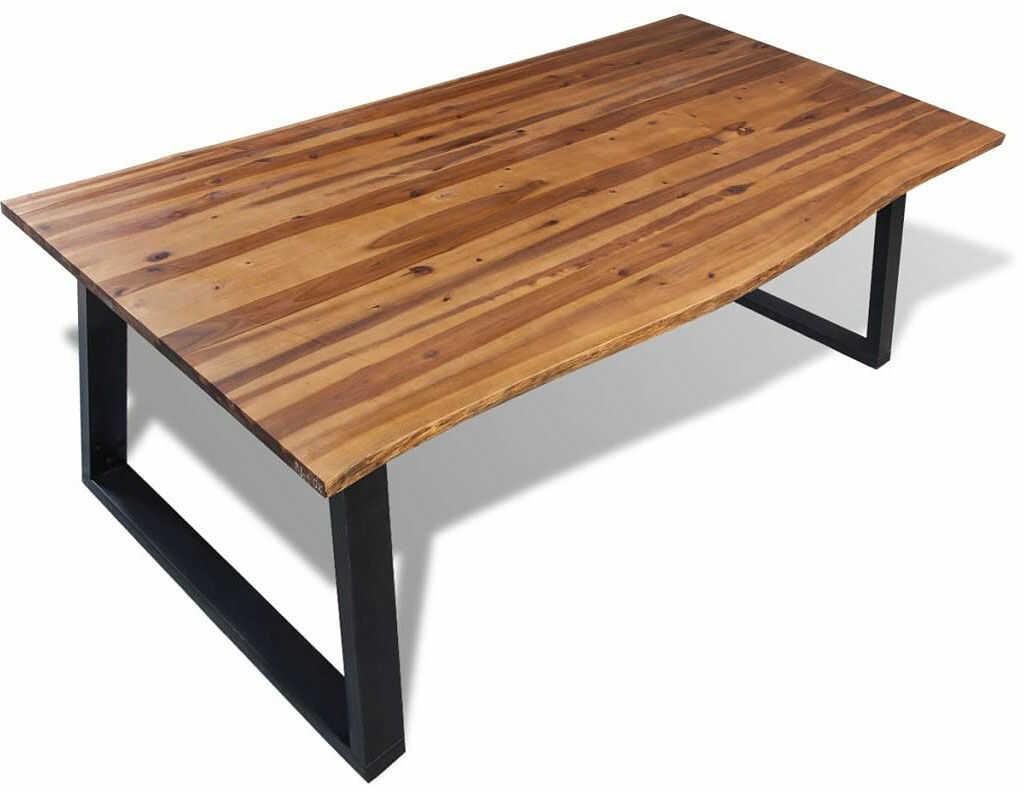 Stół do jadalni z drewna akacjowego Amix 2X  brązowy