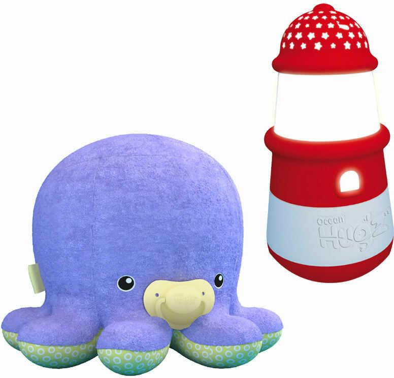 Octopi Pluszowa Ośmiorniczka + latarnia pozytywka lampka i projektor 3w1 6876