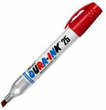 Markal Dura-Ink 25 marker permanentny 3-6mm Czerw