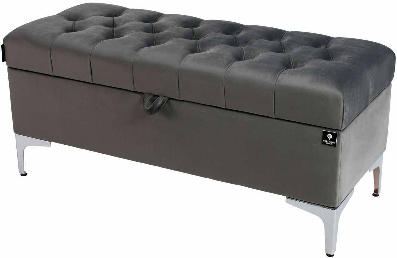 Kufer Pikowany CHESTERFIELD Szary / Model Q-1 Rozmiary od 50 cm do 200 cm