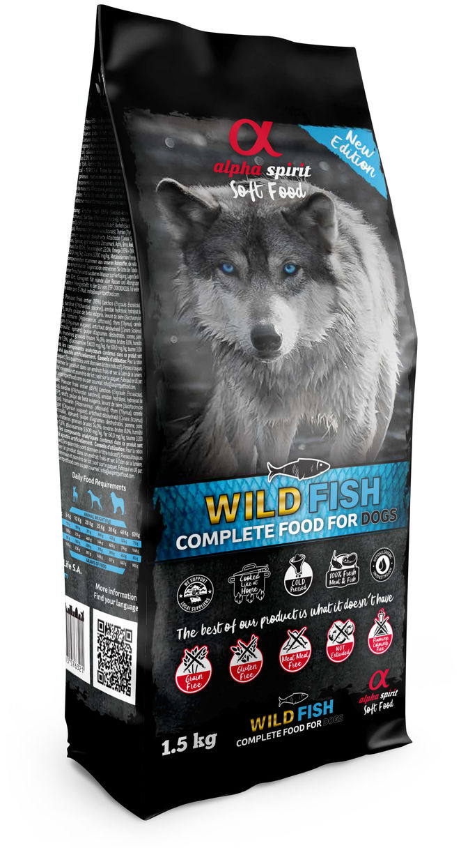 Alpha Spirit Wild Fish pełnoporcjowa karma sucha miękka 1,5kg