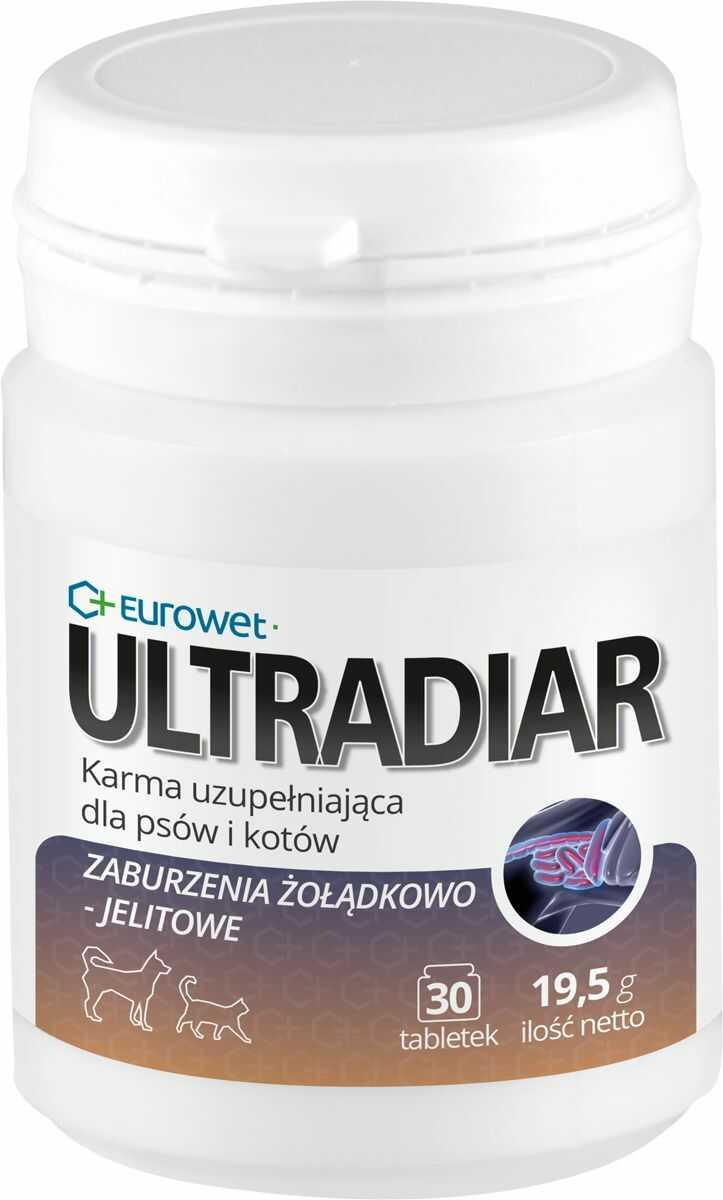ULTRADIAR 30 szt. - wspomaga w przypadku zaburzeń żołądkowo-jelitowych