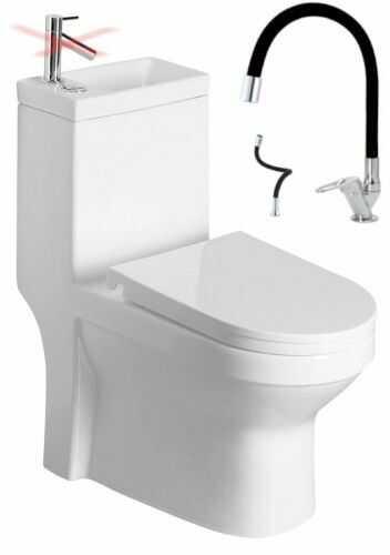 Kompakt WC z umywalką 36,5x78x72cm +bateria+ deska soft-close, odpływ uniwersalny: pion lub poziom HYGIE
