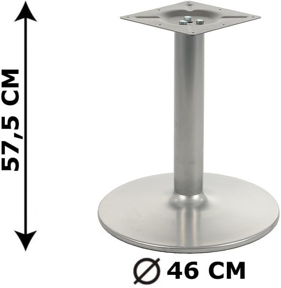 Podstawa stolika NY-B006, aluminium, wysokość 57,5 cm (stelaż stolika, stołu)