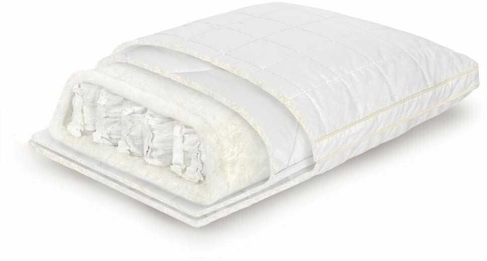 TED I-Spring poduszka pod głowę 45 x 65 cm, z mikrokieszeniami, ortopedyczna poduszka pod głowę