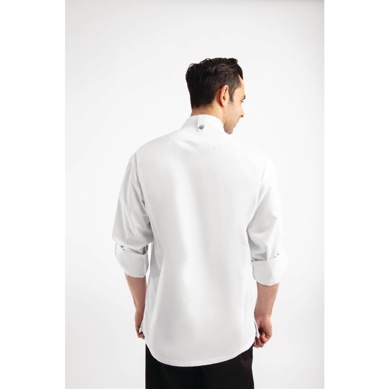 Koszula kucharska Hartford suwak biała rozmiary XS-XL