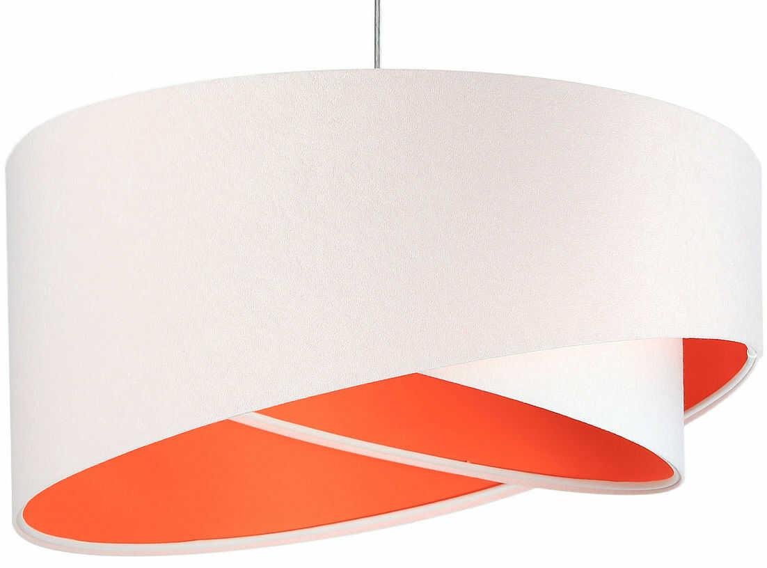 Biało-pomarańczowa skandynawska lampa wisząca - EX990-Rezi