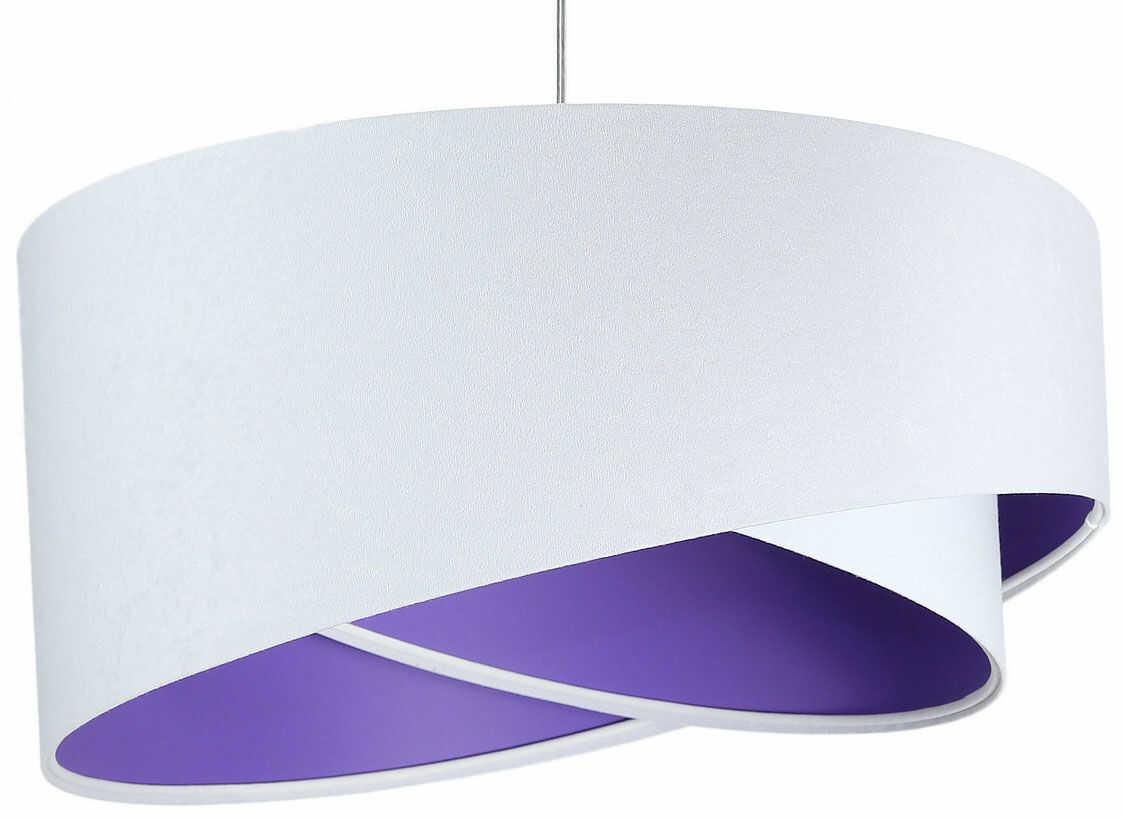 Biało-fioletowa lampa wisząca nad stół - EX990-Rezi