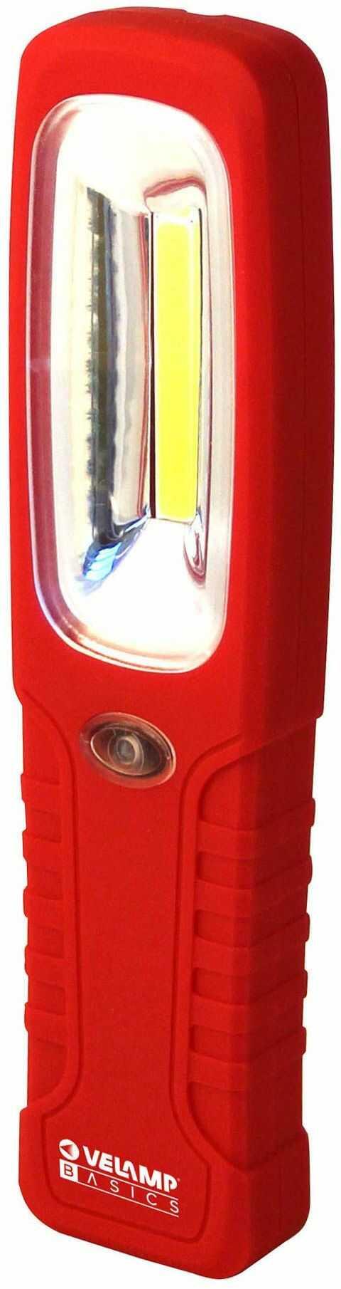 Velamp Super jasne 200 lumenów COB LED oświetlenie robocze. Lampa inspekcyjna. z haczykiem i magnesem do samochodu awaryjnego garażu jaskiń kempingowych polowania, czerwona
