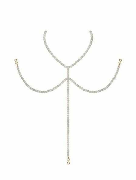 Bielizna-A757 naszyjnik perłowy OS