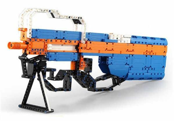 Karabin maszynowy P90 - do zbudowania z klocków (C81003W)