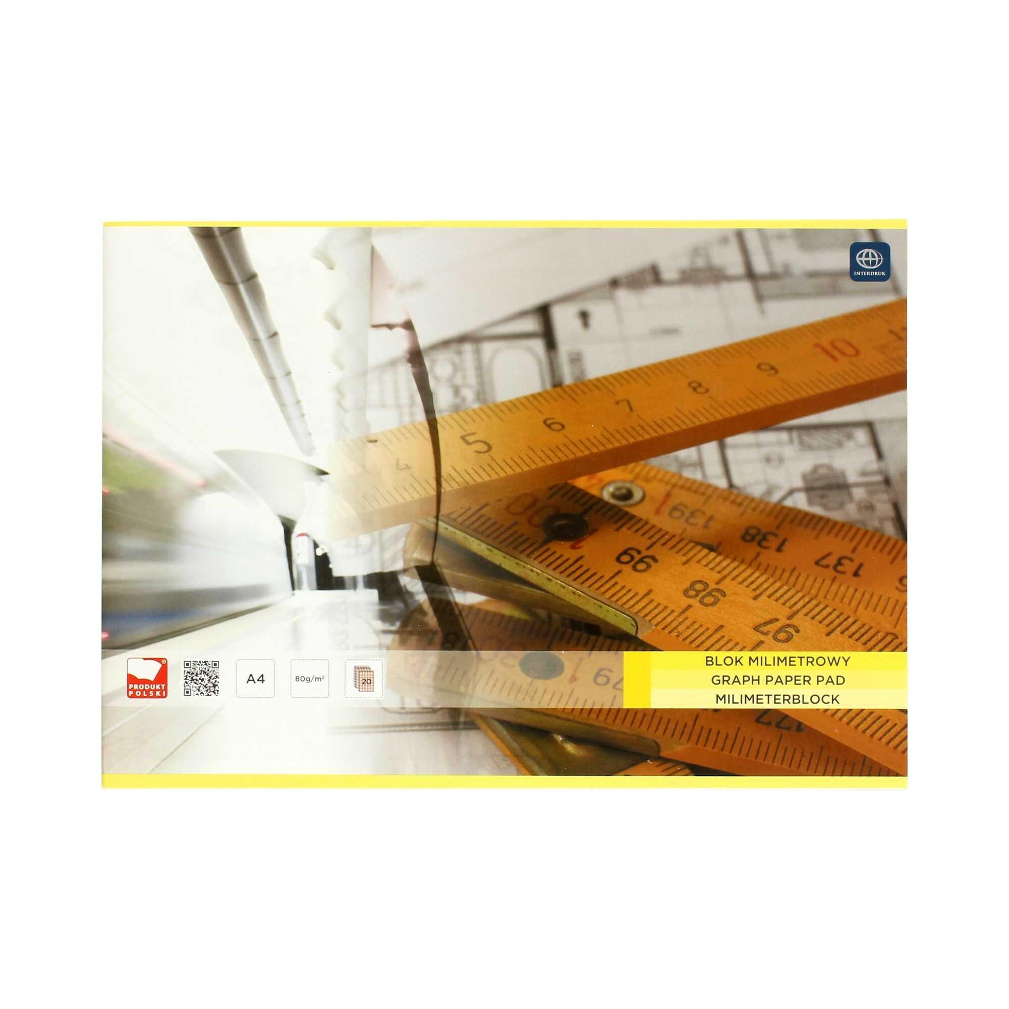 Blok milimetrowy A4/20 Interdruk