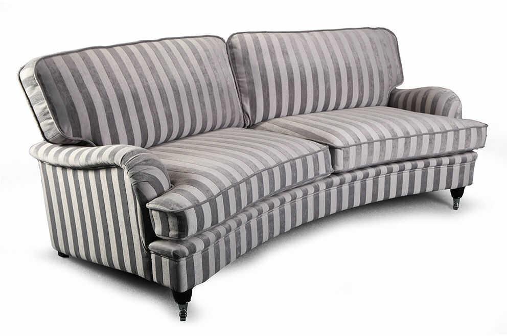 Sofa Don Royal Curved 4os.+, duża kanapa klasyczna