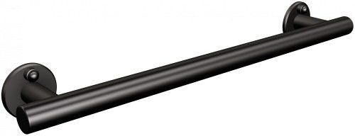UCHWYT PROSTY PRYSZNICOWY 47 cm/ 120 kg, CZARNY MAT
