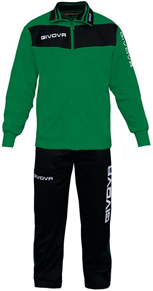 Givova, garnitur wela, zielony/czarny, XS