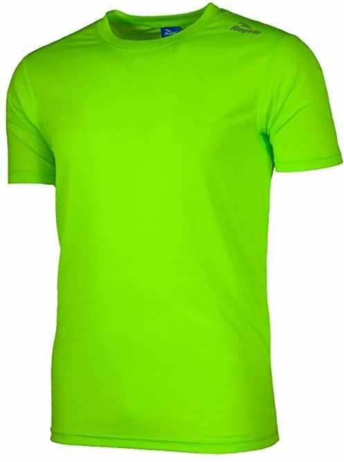 Rogelli Męska koszulka do biegania Promo, fluorescencyjna/zielona, XS