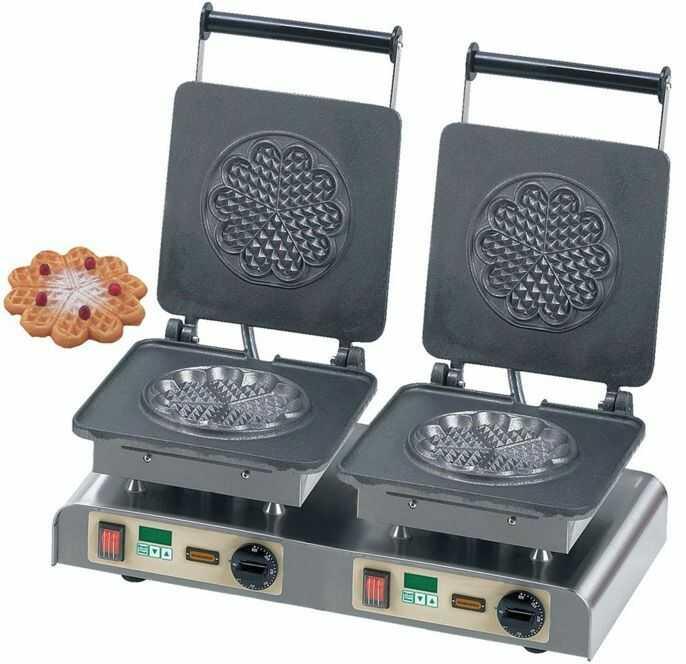 Gofrownica podwójna Heart Waffle L 400V / 4,4kW