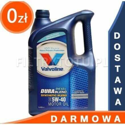 Valvoline DuraBlend Diesel 5W40 5l DARMOWA DOSTAWA
