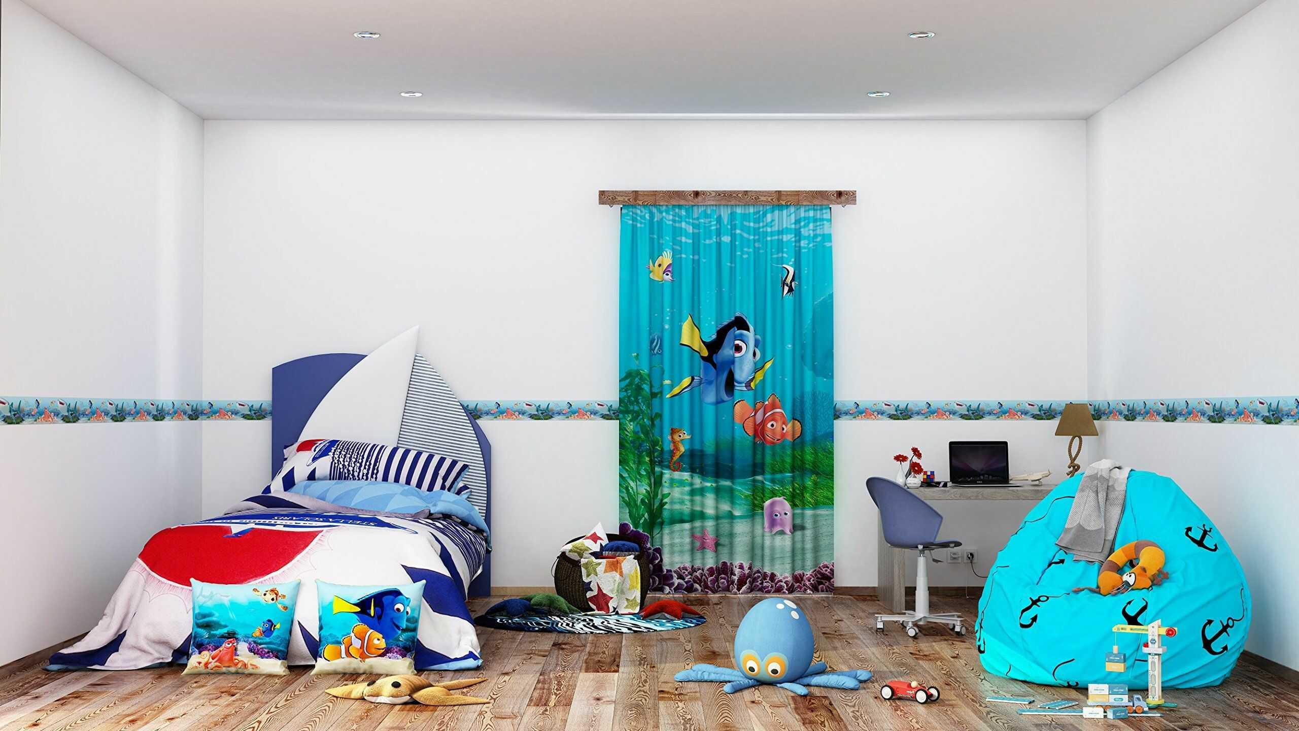 AG Design Disney Findet Nemo naklejka ścienna, samoprzylepna folia, wielokolorowa, 500 x 14 cm