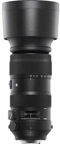 Sigma S 60-600mm f/4.5-6.3 DG OS HSM - obiektyw zmiennoogniskowy do Canon EF Sigma S 60-600mm f/4.5-6.3 DG OS HSM / Canon EF / Teleobiektyw Zoom